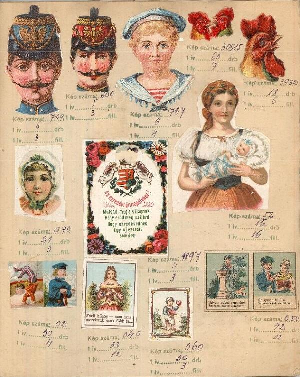Kokas János szombathelyi mézeskalácsos mintakönyve (1892) - Magyar Kereskedelmi és Vendéglátóipari Múzeum, CC BY-NC-ND