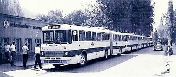 Ikarus 280 csuklósbusz - 50 éves a Borsod Volán - Városi Könyvtár - Ózd, CC BY-NC-ND