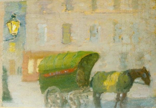 Párizsi utca ekhós kocsival - Rippl-Rónai Megyei Hatókörű Városi Múzeum, CC BY