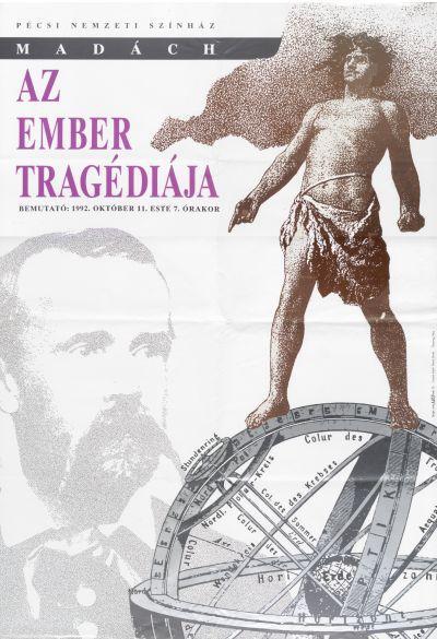 A tragédia plakátja Pécsről (MaNDA)