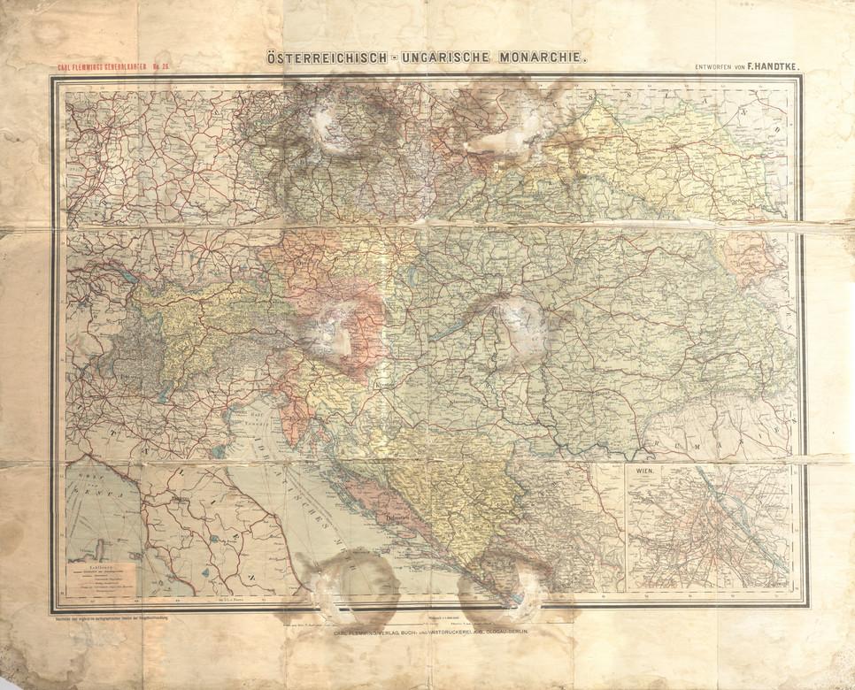 Egy régi tárkép a Monarchiáról (MaNDA)