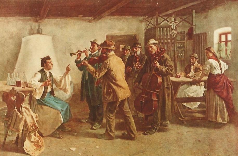 Bihari Sándor: Az ő nótája c. festményének reprodukciója (eredetije 1893-ból való) - Magyar Kereskedelmi és Vendéglátóipari Múzeum, CC BY-NC-ND