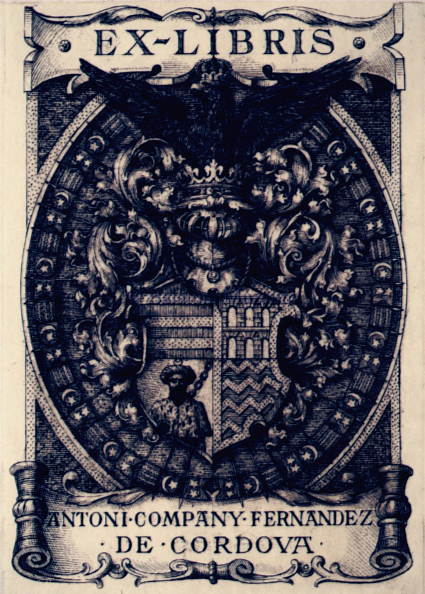 Ex libris Antoni Company Fernandez de Cordova - Balatoni Múzeum, CC BY-NC-ND