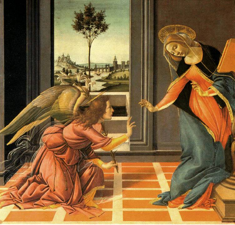 Botticelli - Angyali üdvözlet (forrás: kulturpart.hu)
