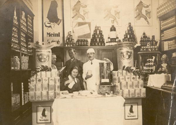 Meinl szaküzlet belső Budapest 1928. - MKVM, CC BY-NC-ND