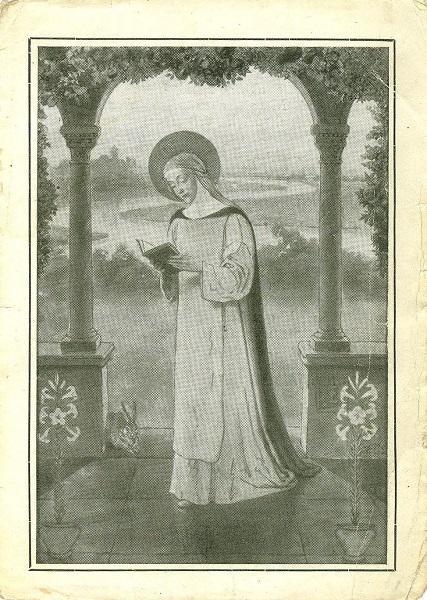 Az olvasó Árpád-házi Szent Margit - Magyar Ferences Könyvtár, CC BY