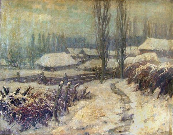 Falu télen -  Rippl-Rónai Megyei Hatókörű Városi Múzeum - Kaposvár, CC BY