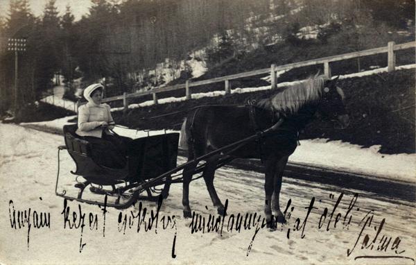 Képeslapon ifj. Marchal Józsefné Blasutigh Pálma, Tátralomnic - Magyar Kereskedelmi és Vendéglátóipari Múzeum, CC BY-NC-ND