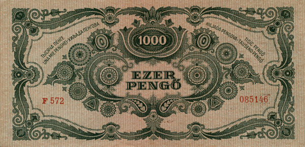 Ezer pengős bankjegy hátoldala - Magyar Nemzeti Múzeum, CC BY-NC-ND