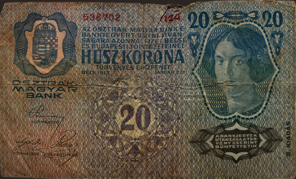 Monarchia-kori 20 korona - Kállay Gyűjtemény, CC BY-NC-ND