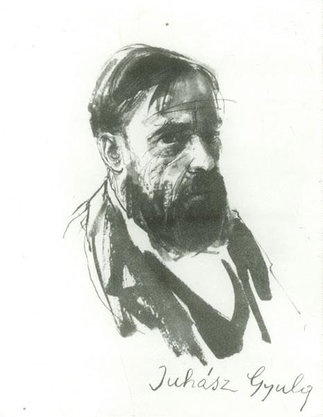 Juhász Gyula (tusrajz) - Déri Múzeum, CC BY