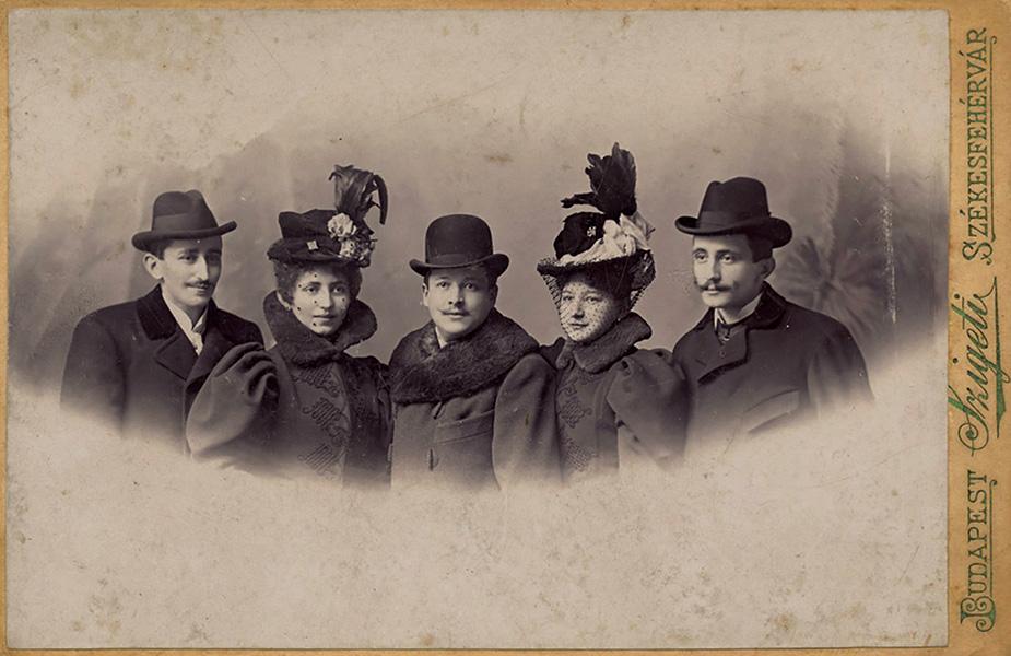 Három úr, két hölgy - Városi Képtár Deák Gyűjtemény Székesfehérvár, CC BY-NC-ND
