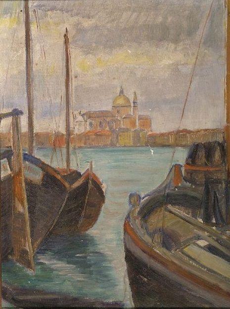 Velencei tájrészlet - Rippl-Rónai Megyei Hatókörű Városi Múzeum, CC BY