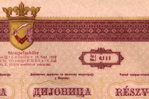 A Varesi Vasipar Rt. részvénye - Magyar Nemzeti Múzeum, CC BY-NC-ND