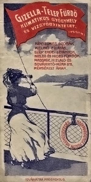 A visegrádi Gizellatelep-fürdő reklámja - Terleczky József, CC BY-NC-ND