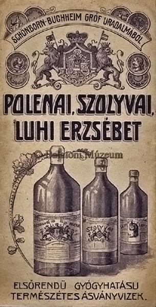 Polenai, Szolyvai, Luhi Erzsébet féle ásványvíz reklámja - Terleczky József, CC BY-NC-ND
