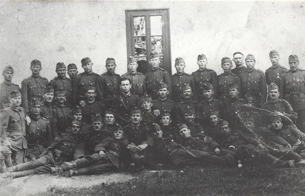 Csoportos katonakép az első világháborúból - Gömöri Múzeum; Putnok, CC BY-NC-ND