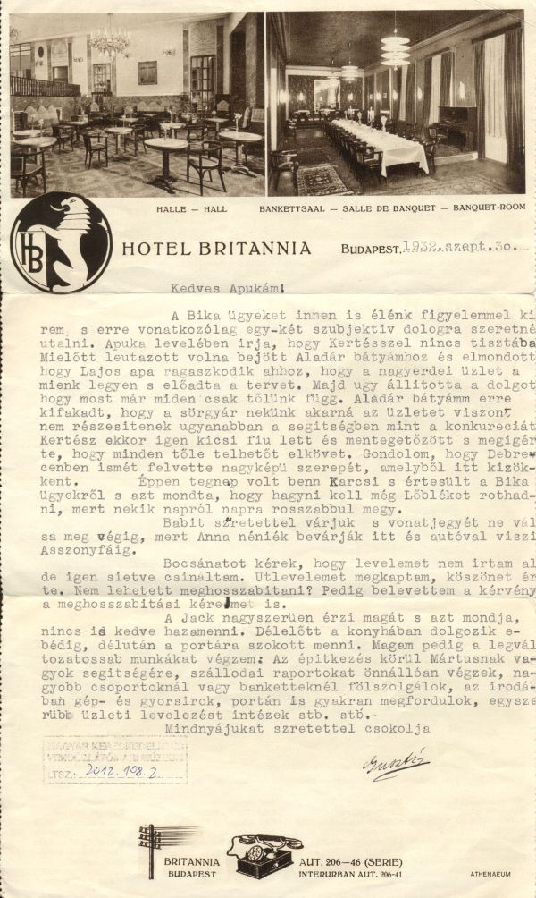Hotel Britannia Radisson Blu Béke - MKVM, CC BY-NC-ND