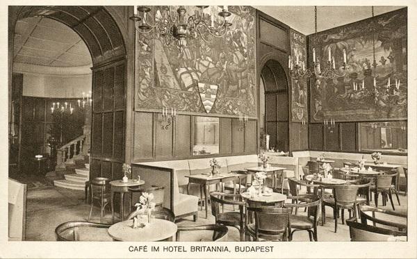 A Hotel Britannia (Béke hotel) egy festménye - MKVM, CC BY-NC-ND