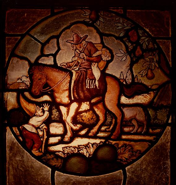 Festett üvegablak - Magyar Kereskedelmi és Vendéglátóipari Múzeum, CC BY-NC-ND