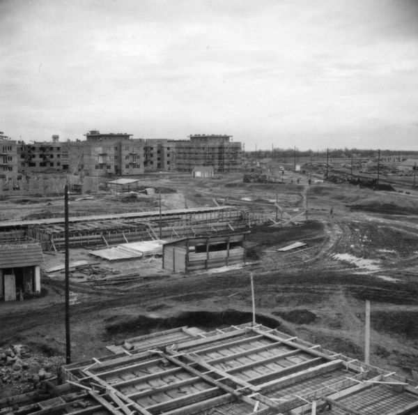 Építők útja - Fortepan, CC BY-SA