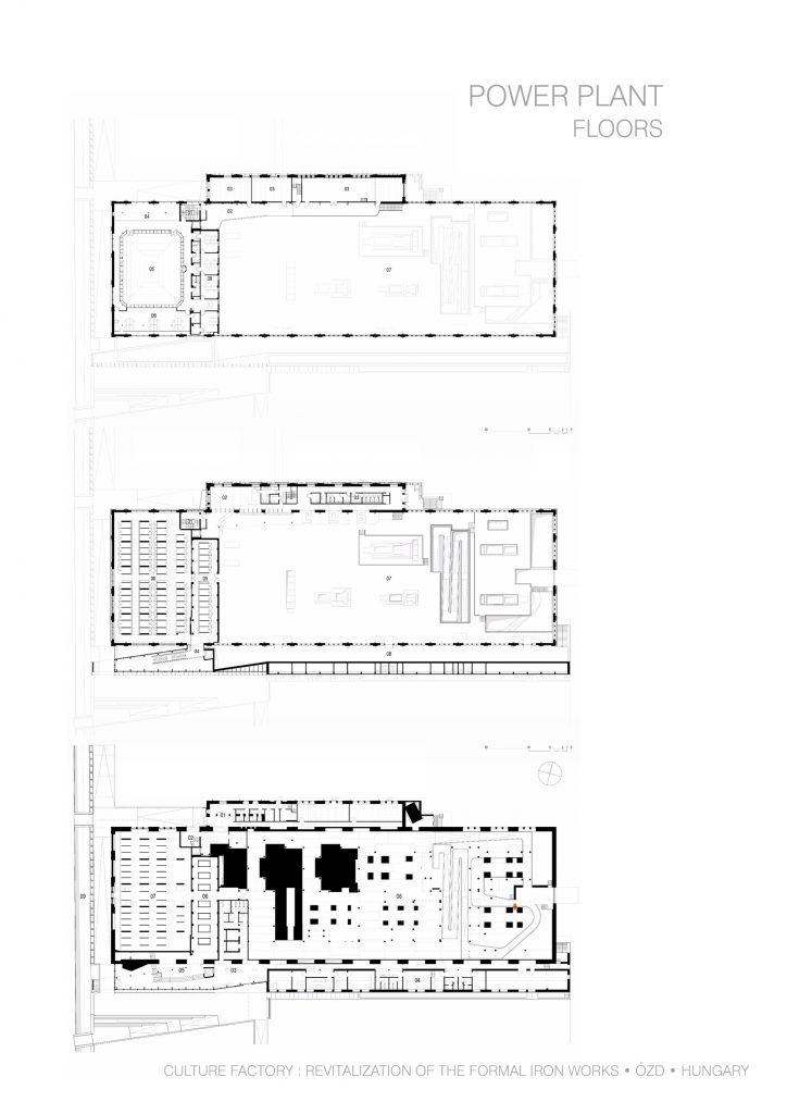 A Digitális Erőmű emeleteinek tervrajzai
