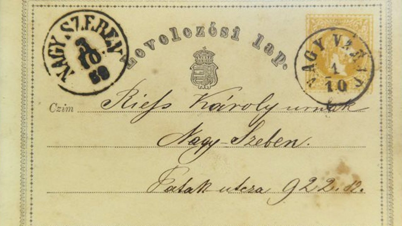 A világ első hivatalos postai levelezőlapja 150 éve az Osztrák-Magyar Monarchiából indult útnak