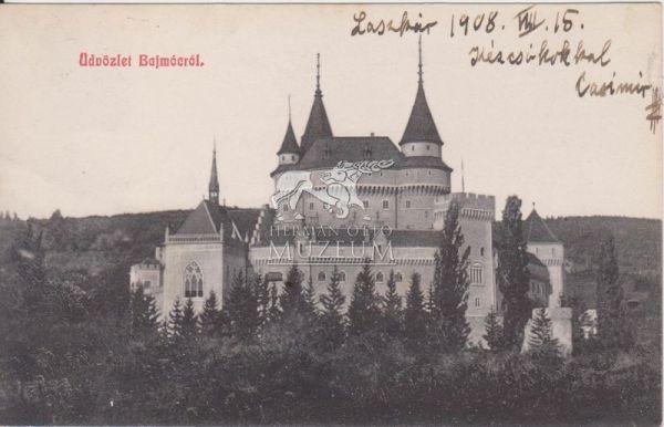 Képeslap-Bajmócfürdő - Herman Ottó Múzeum, CC BY-NC-ND