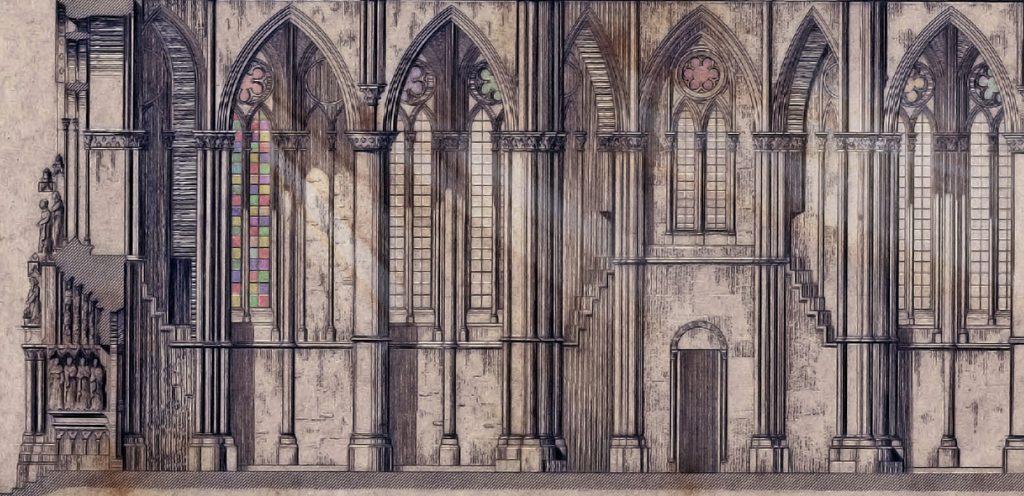 A Trier-i dóm látványterv-rajza - Kuny Domokos Múzeum, CC BY