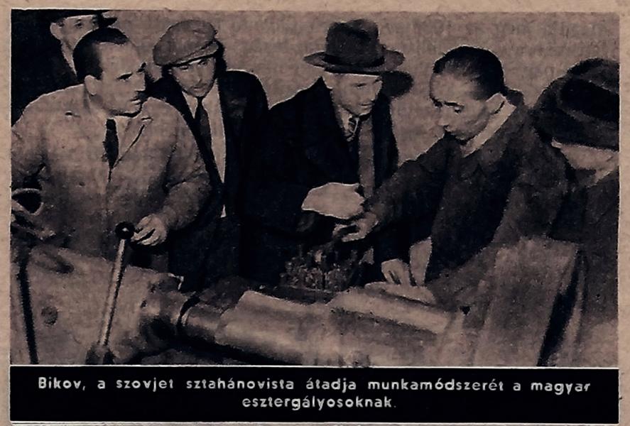 Bikov, saját munkamódszerét tanítja a magyar esztergályosnak - Damjanich János Múzeum, CC BY-NC-ND
