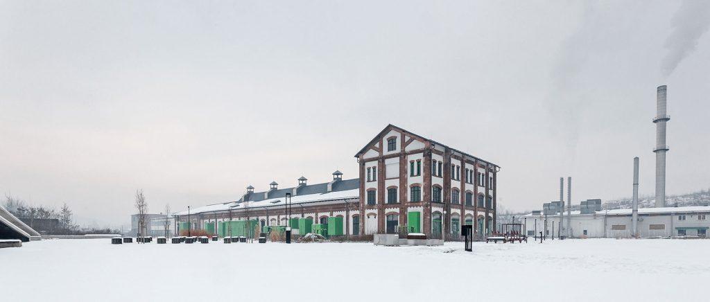 A Nemzeti Filmtörténeti Élménypark déli és nyugati homlokzata a felújítást követően