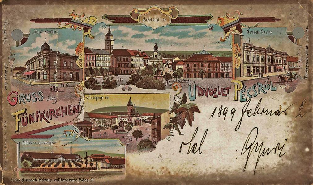Üdvözlet Pécsről - Csorba Győző Könyvtár - Pécs, CC BY-NC