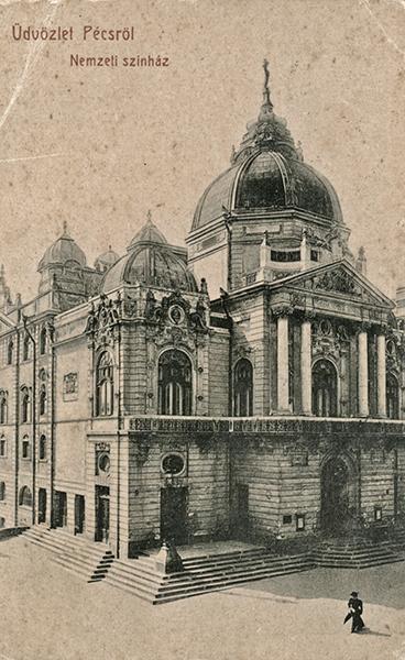 Pécsi Nemzeti Színház az 1930-as években - Csorba Győző Könyvtár - Pécs, PDM