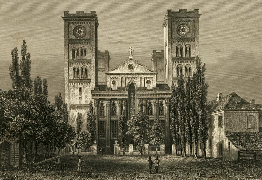 Pécsi Székesegyház az 1800-as években - Csorba Győző Könyvtár - Pécs, PDM