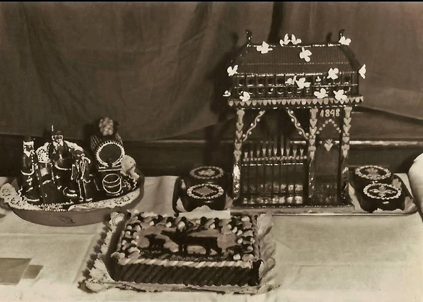 Cukrászkiállítás a New York Kávéházban, 1948-ban - Magyar Kereskedelmi és Vendéglátóipari Múzeum, CC BY-NC-ND