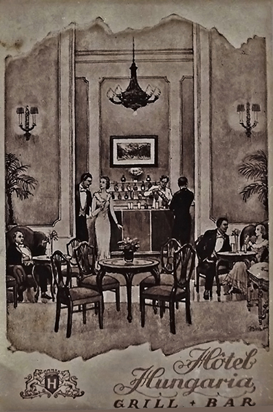 Bárhelyiség a Hotel Hungáriában - Magyar Kereskedelmi és Vendéglátóipari Múzeum, CC BY-NC-ND