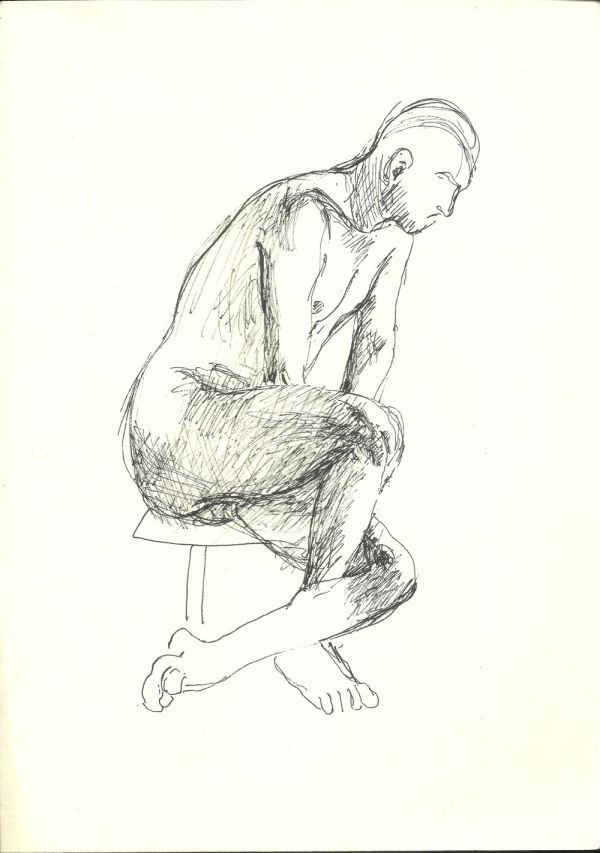 Ülő férfi akt - Thorma János Múzeum, CC BY-NC-ND