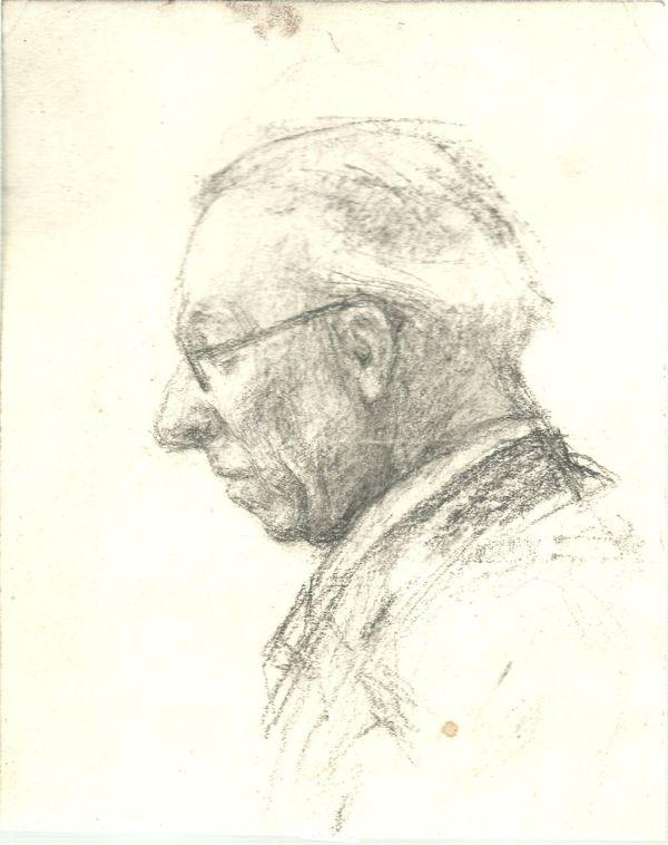 Szemüveges férfi - Thorma János Múzeum, CC BY-NC-ND