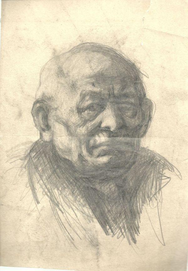 Idős férfi - Thorma János Múzeum, CC BY-NC-ND