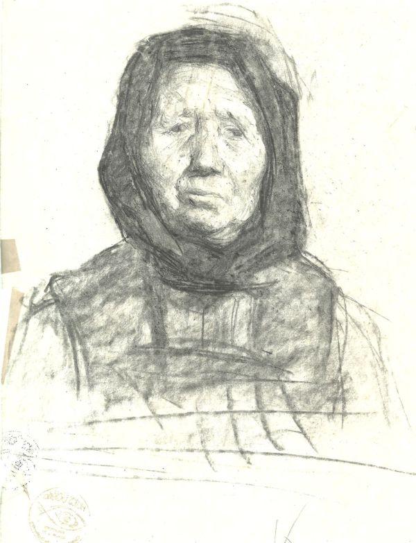 Fejkendős, idős nő - Thorma János Múzeum, CC BY-NC-ND