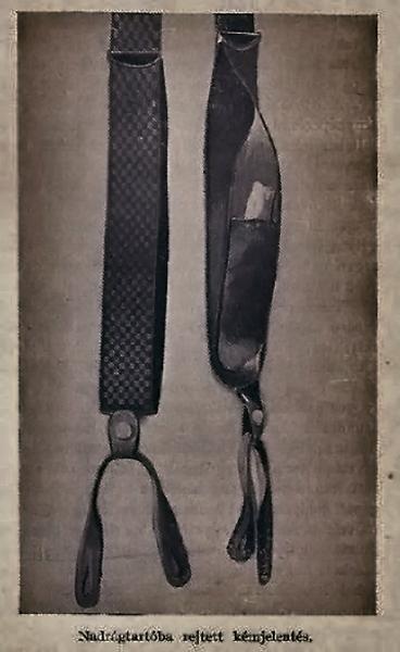 Nadrágtartóba rejtett kémjelentés- Damjanich János Múzeum, CC BY-NC-ND