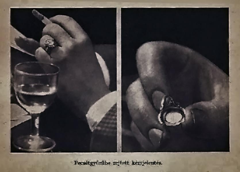 Pecsétgyűrűbe rejtett kémjelentés - Damjanich János Múzeum, CC BY-NC-ND