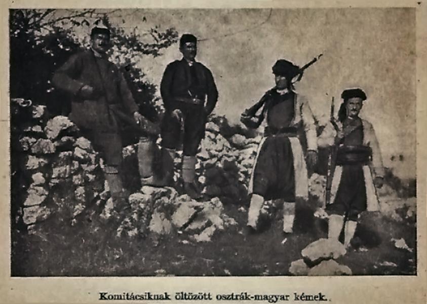 Komitácsiknak öltözött osztrák-magyar kémek - Damjanich János Múzeum, CC BY-NC-ND