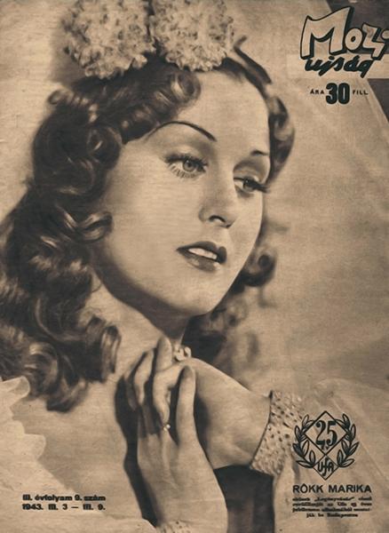 Rökk Marika címlapon, 1943-ban - Magyar Nemzeti Digitális Archívum és Filmintézet, CC BY-NC-ND