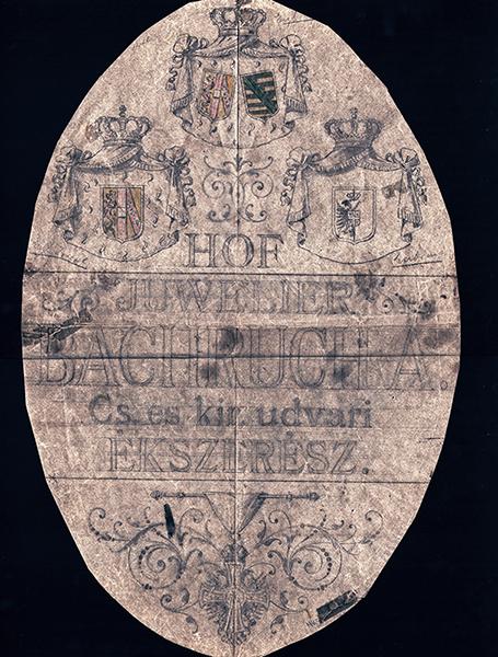 Bachrucha - királyi udvari ékszerész címerterve - MTA Bölcsészettudományi Kutatóközpont, CC BY-NC-ND