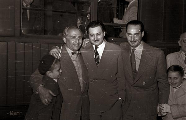 balról: Gács Judit, Rodolfo, Alfonzó, Szenes Iván és Pataki Ferenc - Fortepan, CC BY-SA