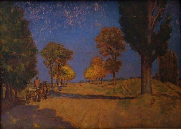 Lellei út nyárfával - Rippl-Rónai Megyei Hatókörű Városi Múzeum, CC BY