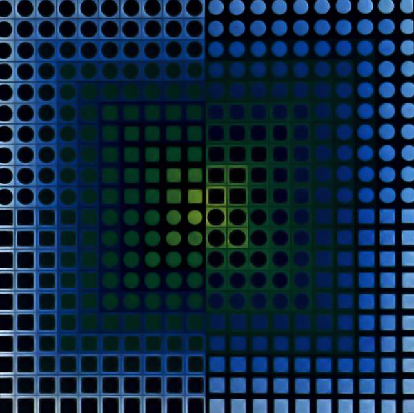 A mélység illúziója, Victor Vasarely alkotásán - Csorba Győző Könyvtár - Pécs, CC BY-NC
