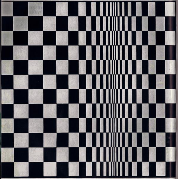 A térhatású felület illúzióját keltő négyzethálós felület - Szendrői Közművelődési Központ és Könyvtár, CC BY-NC-ND