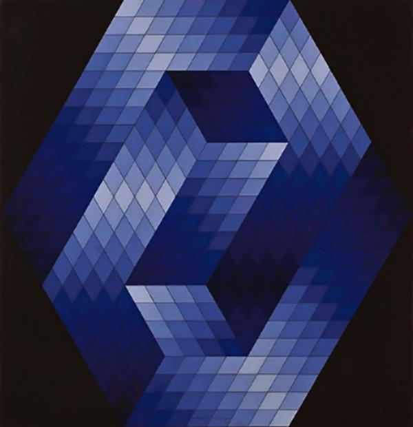 A háromdimenzió illúziója, Victor Vasarely alkotásán - Szendrői Közművelődési Központ és Könyvtár, CC BY-NC-ND